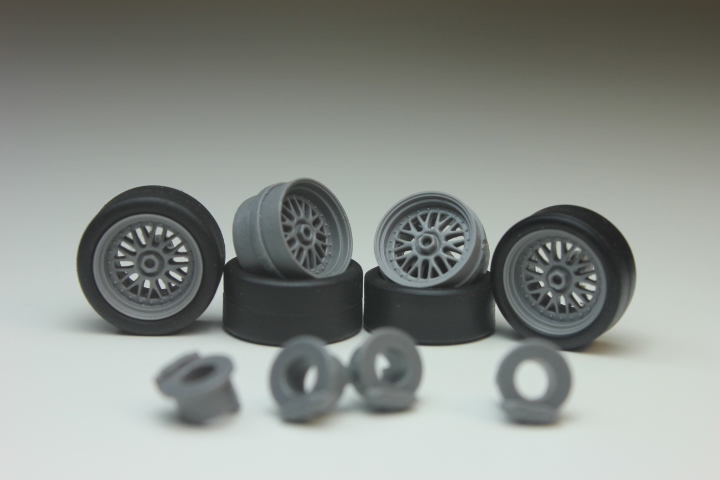 tires, rims, brakes, decals 4 pcs KolkhozZZ/_Division 1:43 K HAMANN wheels set