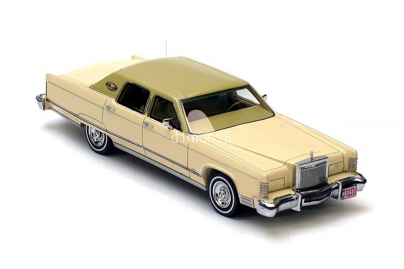 lincoln continental town car neo44420 1 43 neo scale models. Black Bedroom Furniture Sets. Home Design Ideas