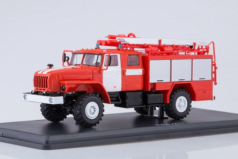 Details about PSA 2,0-40/2 Russian Fire Truck on URAL 43206 Chassis 1:43  Start Scale Models S